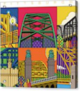Pittsburgh City of Bridges horizontal Acrylic Print