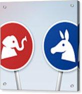Political Debate Signs Acrylic Print
