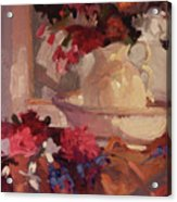 Porcelain and Peonies Acrylic Print