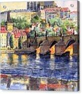 Prague Castle with the Vltava River 1 Acrylic Print