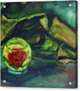 Preserved Rose . . Draped Canvas Acrylic Print