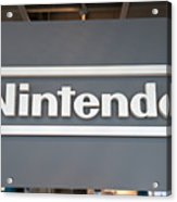 Product Displays Inside The Nintendo Game Front Showroom Acrylic Print