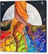 Rainbow Soil with Moon Acrylic Print
