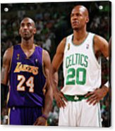 Ray Allen and Kobe Bryant Acrylic Print