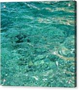 Reflection on blue sea Acrylic Print