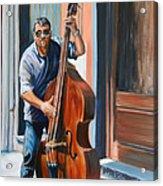 Riviera Rhythms- Cello Street Musician Acrylic Print