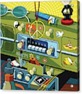 Road Trip '69 Acrylic Print