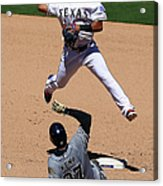 Rougned Odor and Matt Kemp Acrylic Print