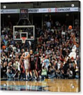 Rudy Gay and Lebron James Acrylic Print
