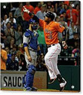 Russell Martin and Luis Valbuena Acrylic Print
