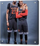 Russell Westbrook and Anthony Davis Acrylic Print