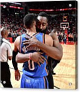 Russell Westbrook and James Harden Acrylic Print