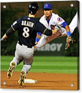 Ryan Braun and Starlin Castro Acrylic Print