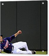 Sam Fuld and Alcides Escobar Acrylic Print
