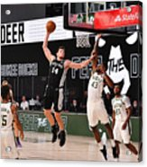 San Antonio Spurs v Milwaukee Bucks Acrylic Print