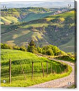 Scenic View Of Country Road Against Sky Acrylic Print