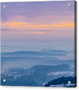 Scenic view of mountains during sunset Acrylic Print