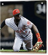 Scooter Gennett and Brandon Phillips Acrylic Print