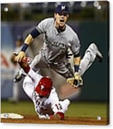 Scooter Gennett and Freddy Galvis Acrylic Print