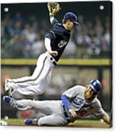 Scooter Gennett and Justin Turner Acrylic Print