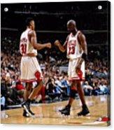 Scottie Pippen and Michael Jordan Acrylic Print