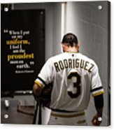 Sean Rodriguez and Roberto Clemente Acrylic Print