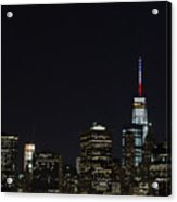 Security Increased In New York City After Attacks In Paris Acrylic Print