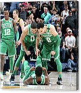 Shane Larkin, Jaylen Brown, and Jayson Tatum Acrylic Print