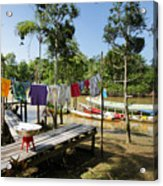 Simple Life in Amazon,Brazil Acrylic Print