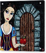 Snow White Considers The Apple Acrylic Print