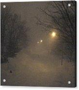 Snowy Night Acrylic Print