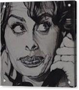 Sophia Loren Telephones Acrylic Print