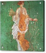 Spring, maiden gathering flowers, from the villa of Varano in Stabiae Acrylic Print