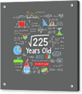 Square Root Of 225 15 Years Old 15th Birthday Math Digital Art By Felix If you raise a number to it's 1/2 (or.5) power you get it's square root (and raising it to the 1/3 (or.333) power will give you it's cube root). square root of 225 15 years old 15th birthday math by felix