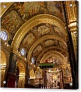 St. John's Cathedral in Valletta Acrylic Print