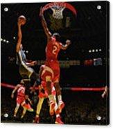 Stephen Curry and Kawhi Leonard Acrylic Print