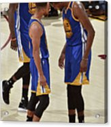 Stephen Curry and Kevin Durant Acrylic Print