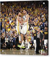Stephen Curry and Klay Thompson Acrylic Print