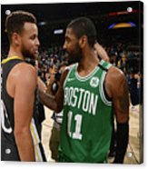 Stephen Curry and Kyrie Irving Acrylic Print