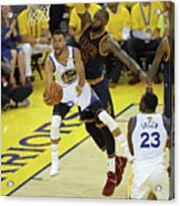 Stephen Curry and Lebron James Acrylic Print