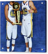 Stephen Curry and Quinn Cook Acrylic Print