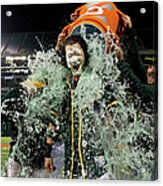 Stephen Vogt, Josh Reddick, and Billy Butler Acrylic Print