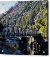 Storrie Bridge Feather River Acrylic Print