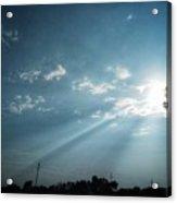 Striking rays Acrylic Print