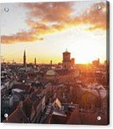 Sunset above Copenhagen Acrylic Print