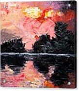Sunset. After storm. Acrylic Print