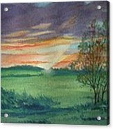 Sunset at Ceton  Acrylic Print
