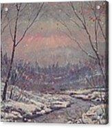 Sunset In Winter. Acrylic Print