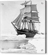 Terra Nova in Antarctic pack ice, 1910 Acrylic Print