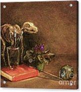 The Artist's Taboret- Cave Canum Acrylic Print